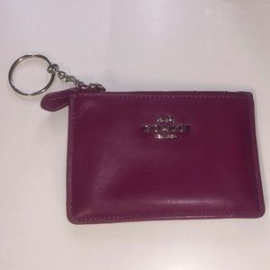 Coach card holder with keychain